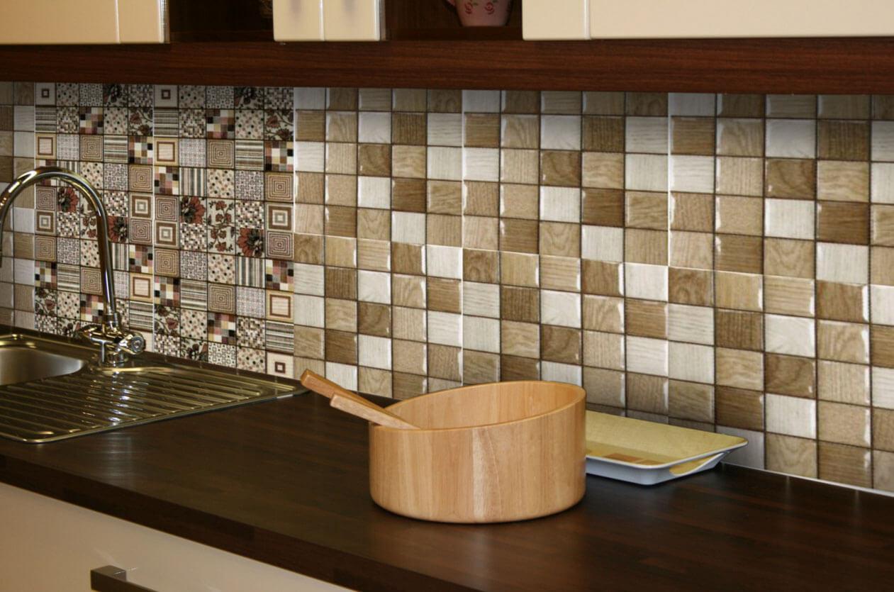 фартук для кухни мозаика