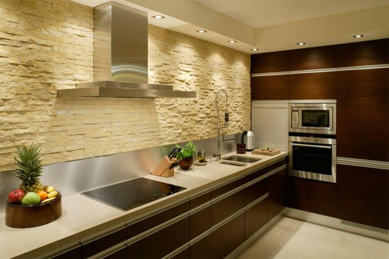 фартук для кухни из камня