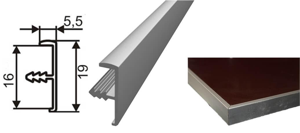 фасад МДФ с алюминиевыми профилями